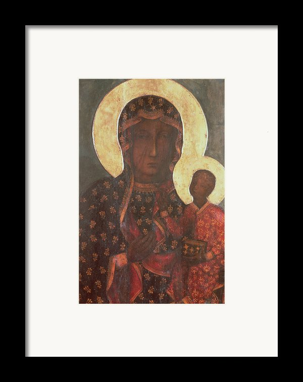The Black Madonna Of Jasna Gora Framed Print By Russian School