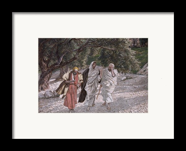 The Disciples On The Road To Emmaus Framed Print By Tissot