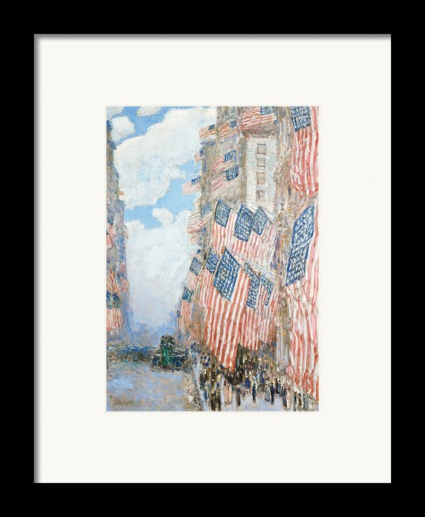 The Fourth Of July Framed Print By Childe Hassam