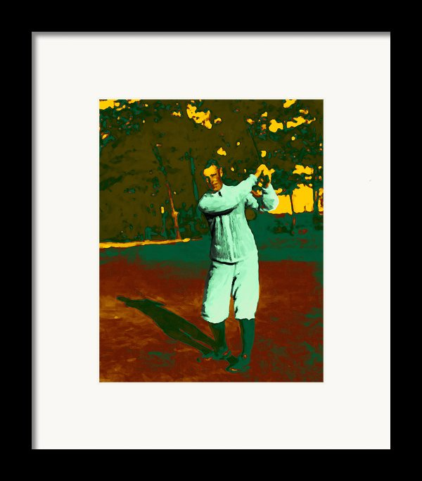 The Golfer - 20130208 Framed Print By Wingsdomain Art And Photography