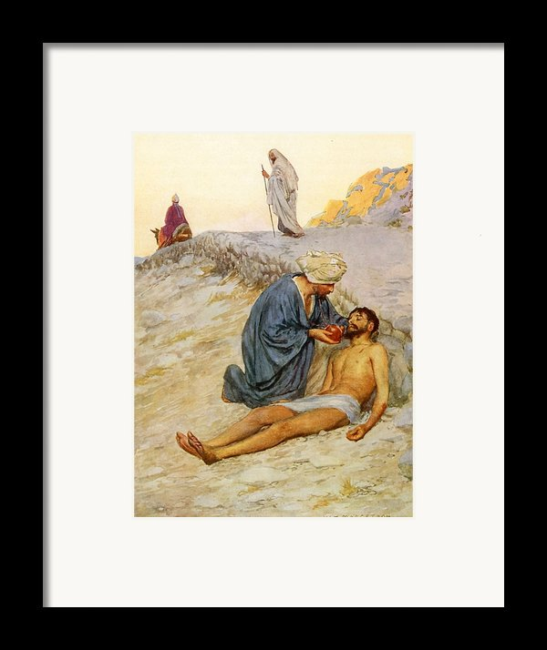 The Good Samaritan Framed Print By William Henry Margetson