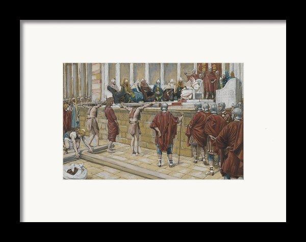 The Judgement On The Gabbatha Framed Print By Tissot