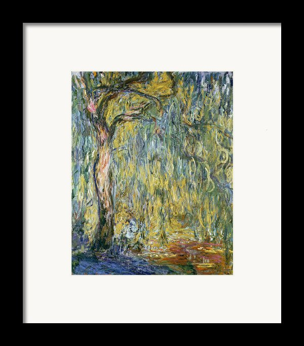 The Large Willow At Giverny Framed Print By Claude Monet
