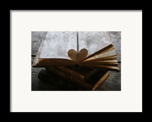 The Love Of A Book Framed Print By Nomad Art And  Design