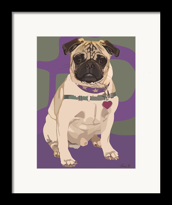 The Love Pug Framed Print By Kris Hackleman