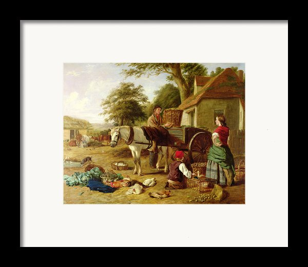 The Market Cart Framed Print By Henry Charles Bryant
