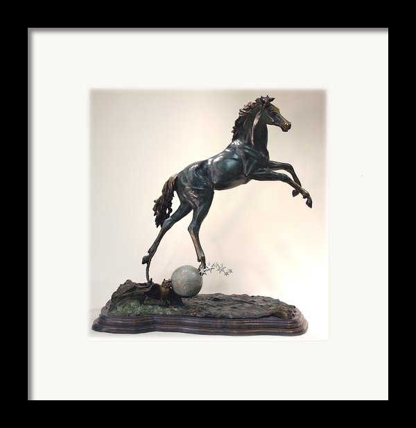 The Moonhorse Bronze Framed Print By Dawn Senior-trask