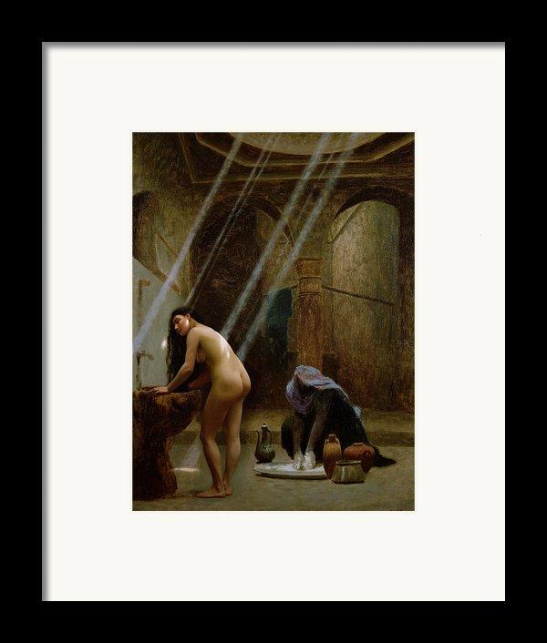 The Moorish Bath Framed Print By Jean Leon Gerome