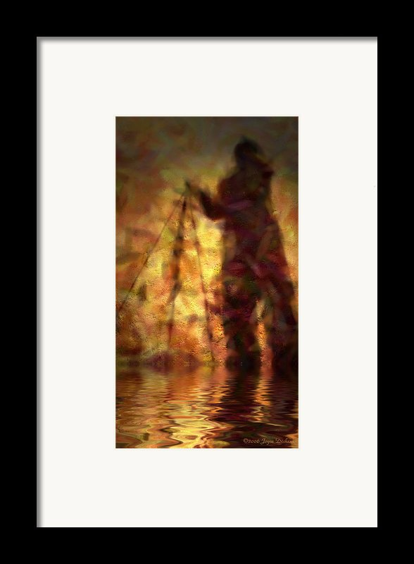 The Photographer In Water Framed Print By Joyce Dickens