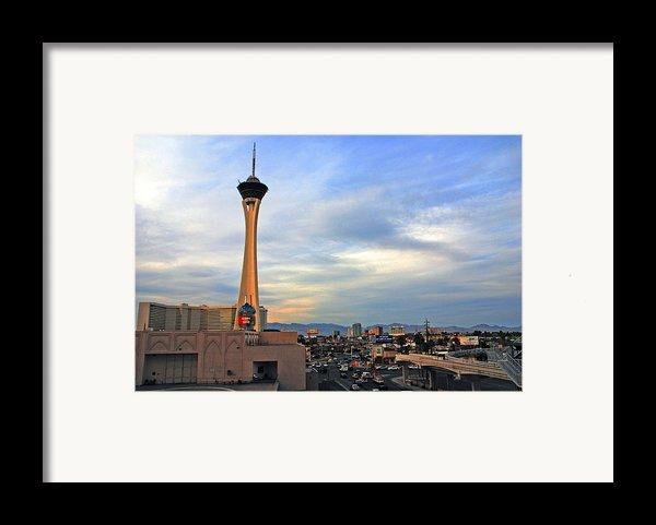 The Stratosphere In Las Vegas Framed Print By Susanne Van Hulst