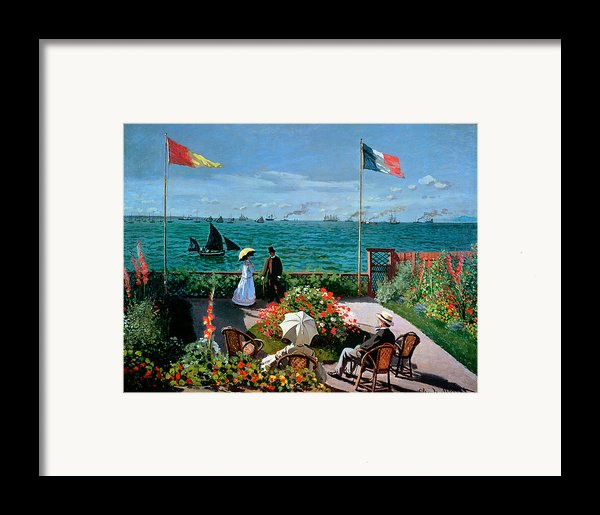 The Terrace At Sainte Adresse Framed Print By Claude Monet
