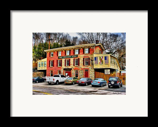 The Trolley Stop Framed Print By Stephen Younts