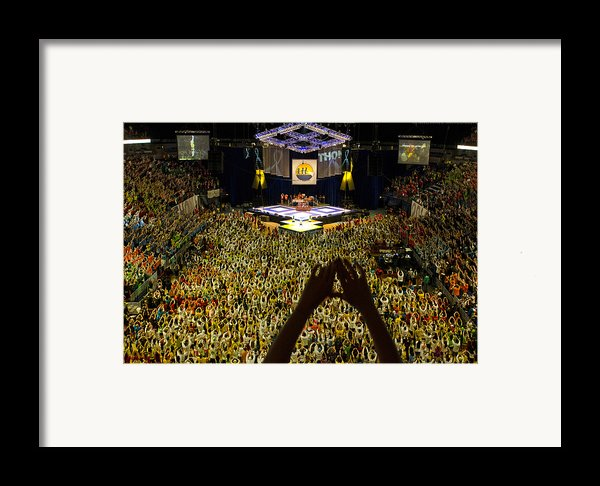 Thon Diamonds Up Framed Print By Michael Misciagno