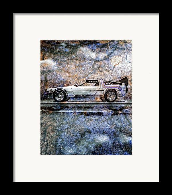 Time Machine Or The Retrofitted Delorean Dmc-12 Framed Print By Bob Orsillo