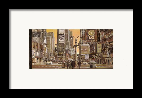 Times Square Framed Print By Guido Borelli