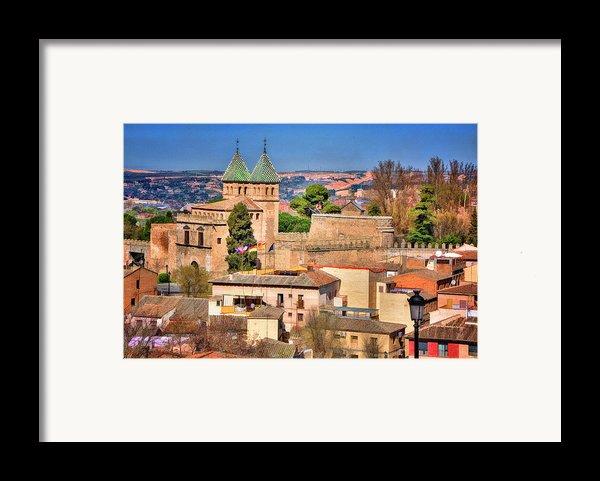 Toledo Town View Framed Print By Joan Carroll