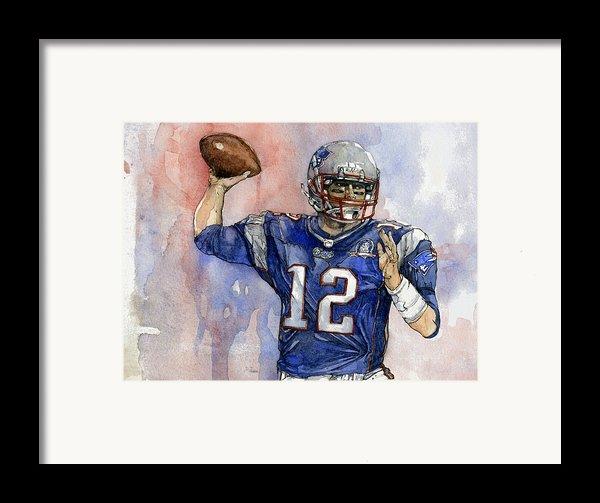 Tom Brady Framed Print By Michael  Pattison