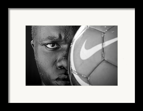 Tough Like A Nike Ball Framed Print By Val Black Russian Tourchin