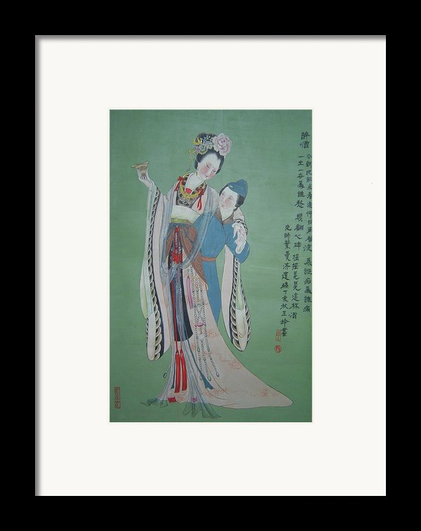 Tr 004 Hightest-ranking Imperia Concubine Of Temulentia Framed Print By Ling Wang