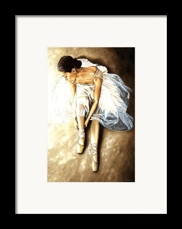 Tranquil Preparation Framed Print By Richard Young