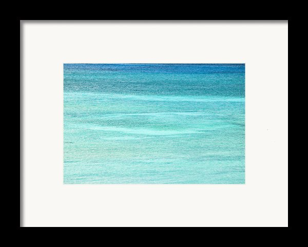 Turquoise Blue Carribean Water Framed Print By James Forte