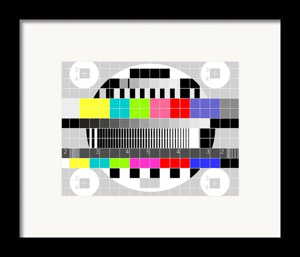 Tv Multicolor Signal Test Pattern Framed Print By Aloysius Patrimonio