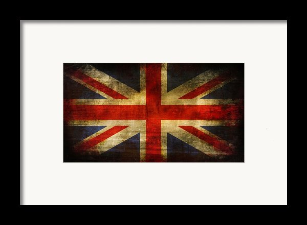 Uk Flag Framed Print By Brett Pfister