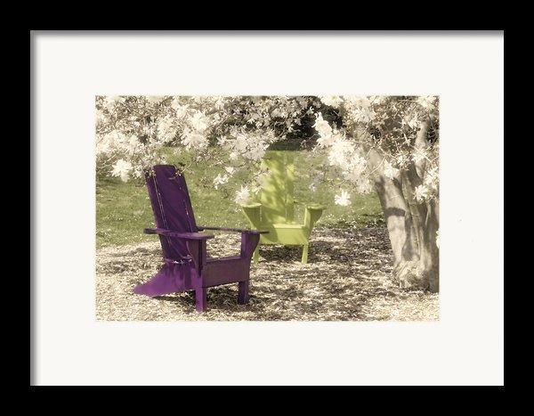 Under The Magnolia Tree Framed Print By Tom Mc Nemar
