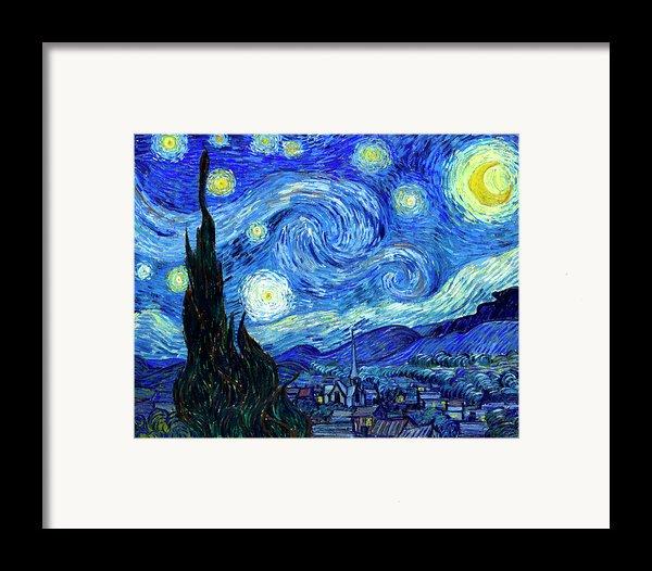 Van Gogh Starry Night Framed Print By Vincent Van Gogh