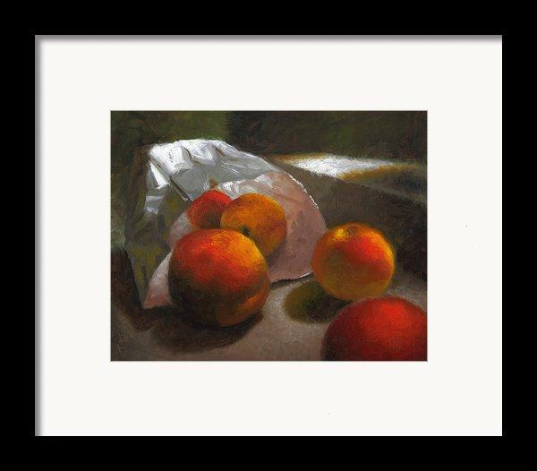 Vanzant Peaches Framed Print By Timothy Jones