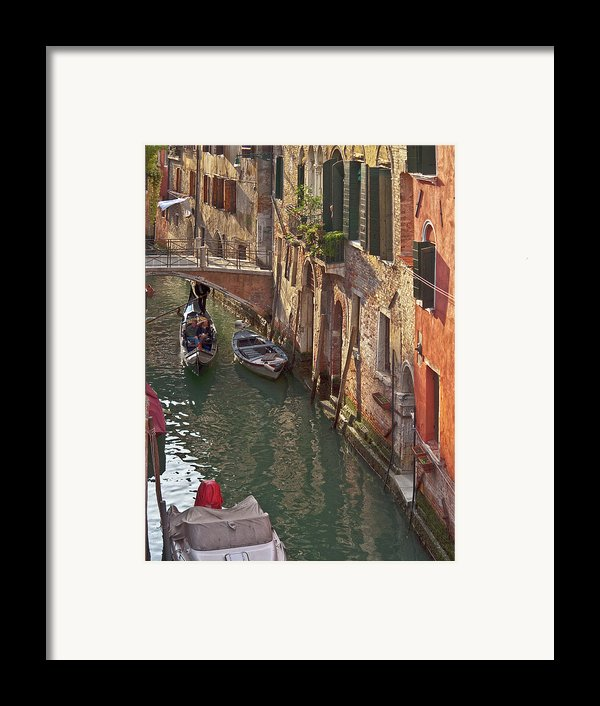 Venice Ride With Gondola Framed Print By Heiko Koehrer-wagner