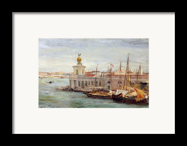 Venice Framed Print By Sir Samuel Luke Fields