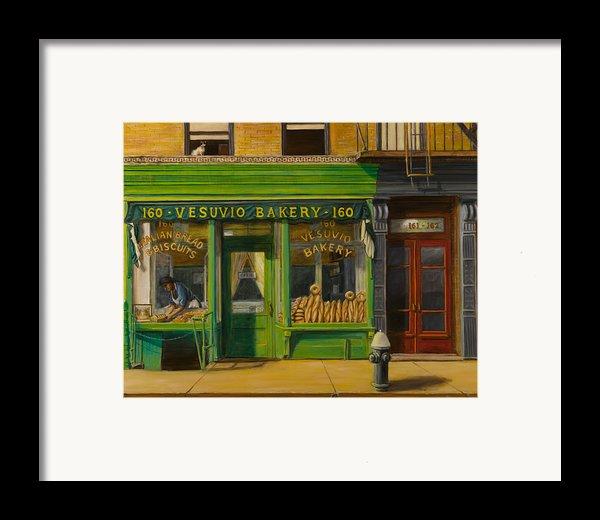 Vesuvio Bakery In New York City Framed Print By Christopher Oakley