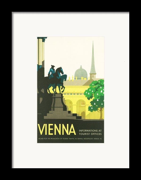Vienna Framed Print By Nomad Art And  Design