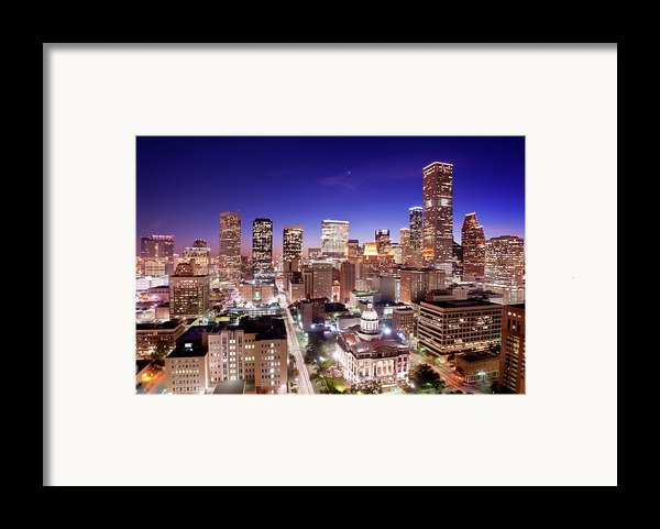 View Of Cityscape Framed Print By Jld3 Photography