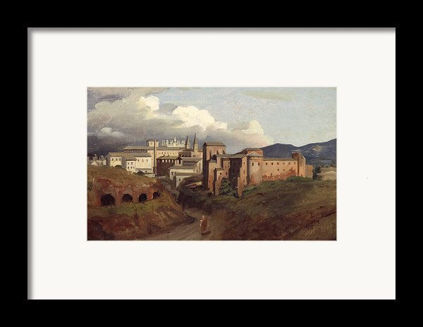 View Of Saint John Lateran Rome Framed Print By Joseph Desire Court