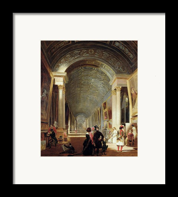 View Of The Grande Galerie Of The Louvre Framed Print By Patrick Allan Fraser
