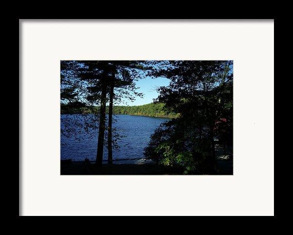 Walden Pond End Of Summer Framed Print By Lawrence Christopher