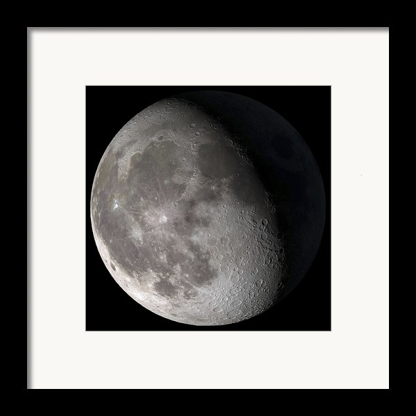 Waning Gibbous Moon Framed Print By Stocktrek Images