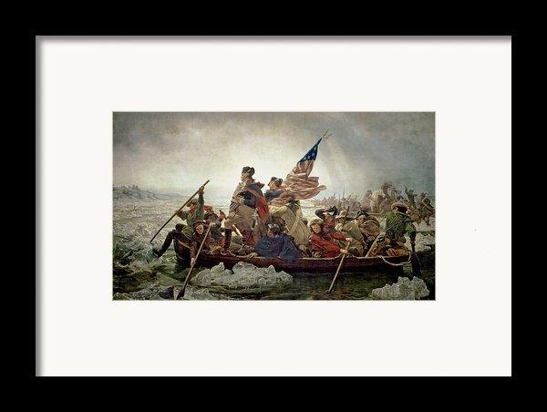 Washington Crossing The Delaware River Framed Print By Emanuel Gottlieb Leutze