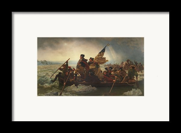 Washington Crossing The Delaware Framed Print By War Is Hell Store