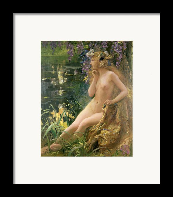 Water Nymph Framed Print By Gaston Bussiere