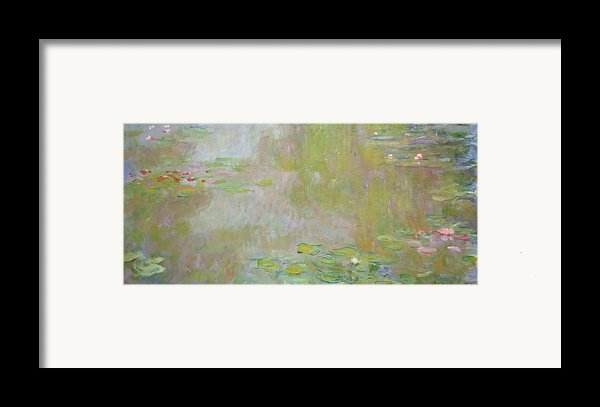 Waterlilies At Giverny Framed Print By Claude Monet