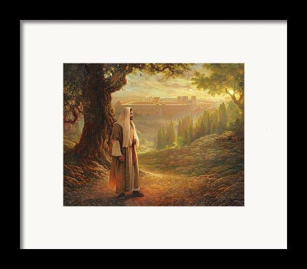 Wherever He Leads Me Framed Print By Greg Olsen