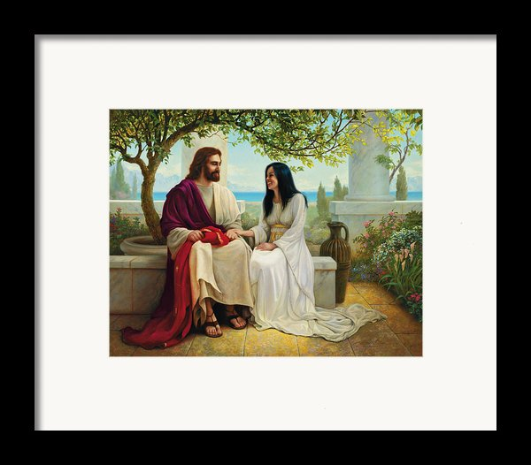 White As Snow Framed Print By Greg Olsen