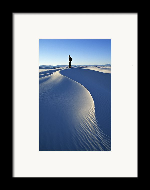 White Sands National Monument, Nm Usa Framed Print By Dawn Kish