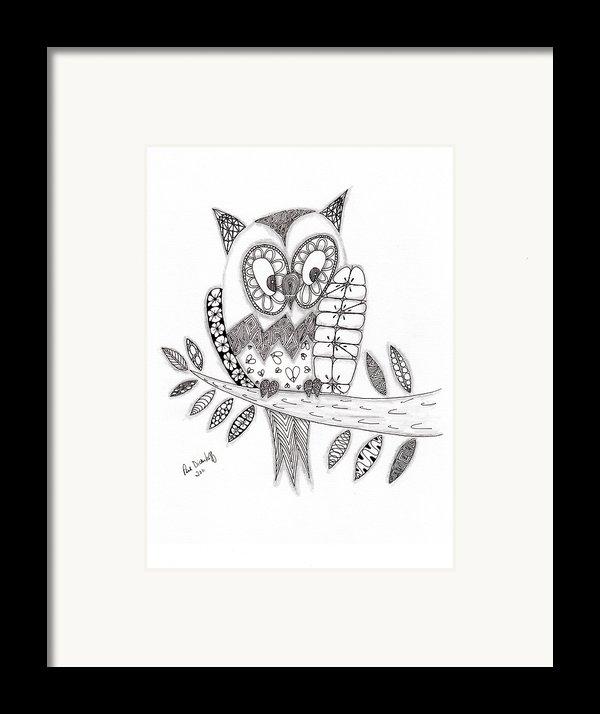 Who Says The Owl Framed Print By Paula Dickerhoff