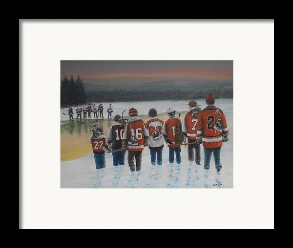 Winter Classic 2012 Framed Print By Ron  Genest
