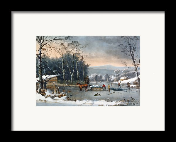Winter In The Country Framed Print By Currier And Ives