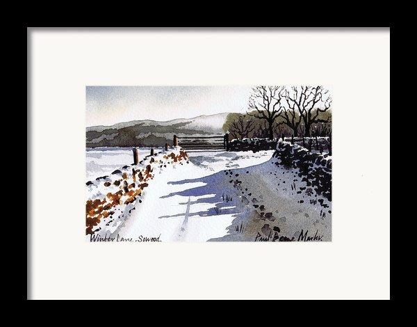 Winter Lane Sowood Framed Print By Paul Dene Marlor